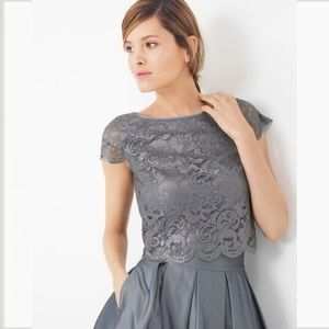 WHBM lace Crop Bodice Top